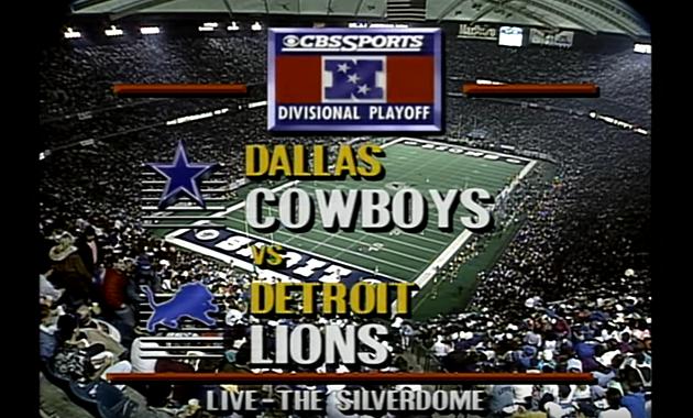 pregame lions 1991 playoff