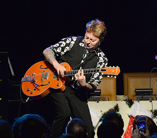 """The Brian Setzer Orchestra Perform Private """"Christmas Rocks"""" Concert For SiriusXM Listeners At The Hard Rock Cafe In New York City; Concert To Air On SiriusXM's Outlaw Country Channel"""